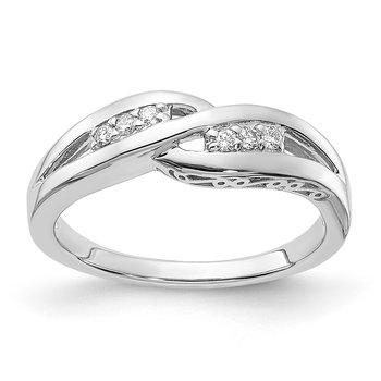 sterling silver and diamond .09ctw promise ring