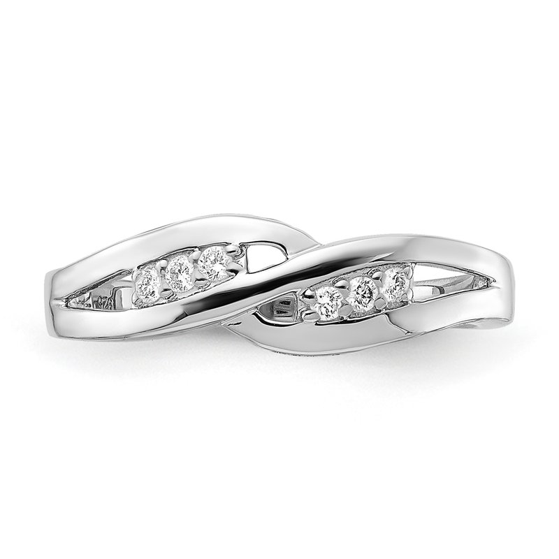 Greenberg's sterling silver and diamond .09ctw promise ring