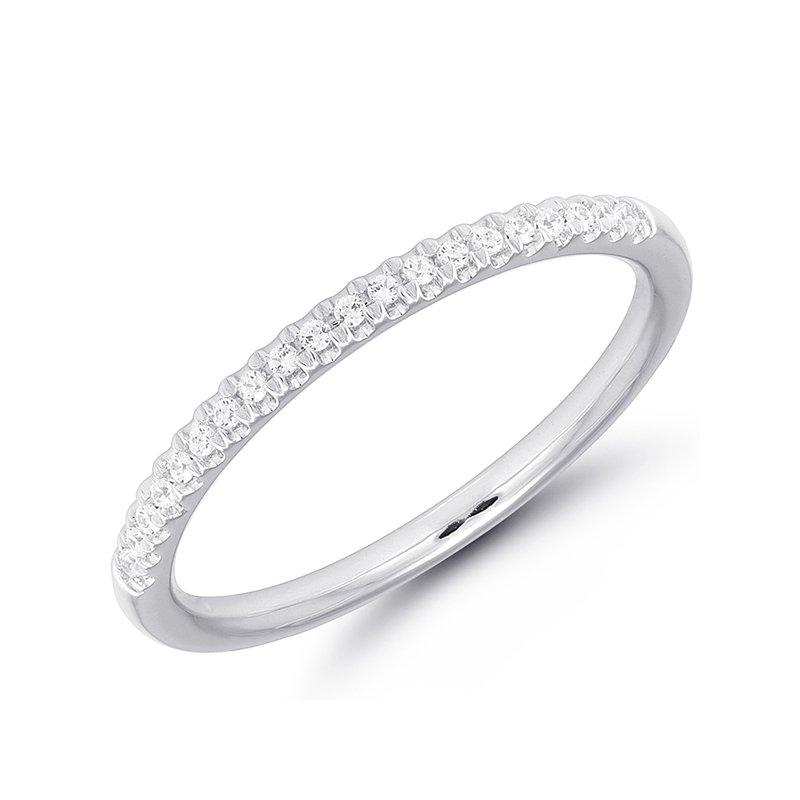 Greenberg's 10k white gold diamond wedding band