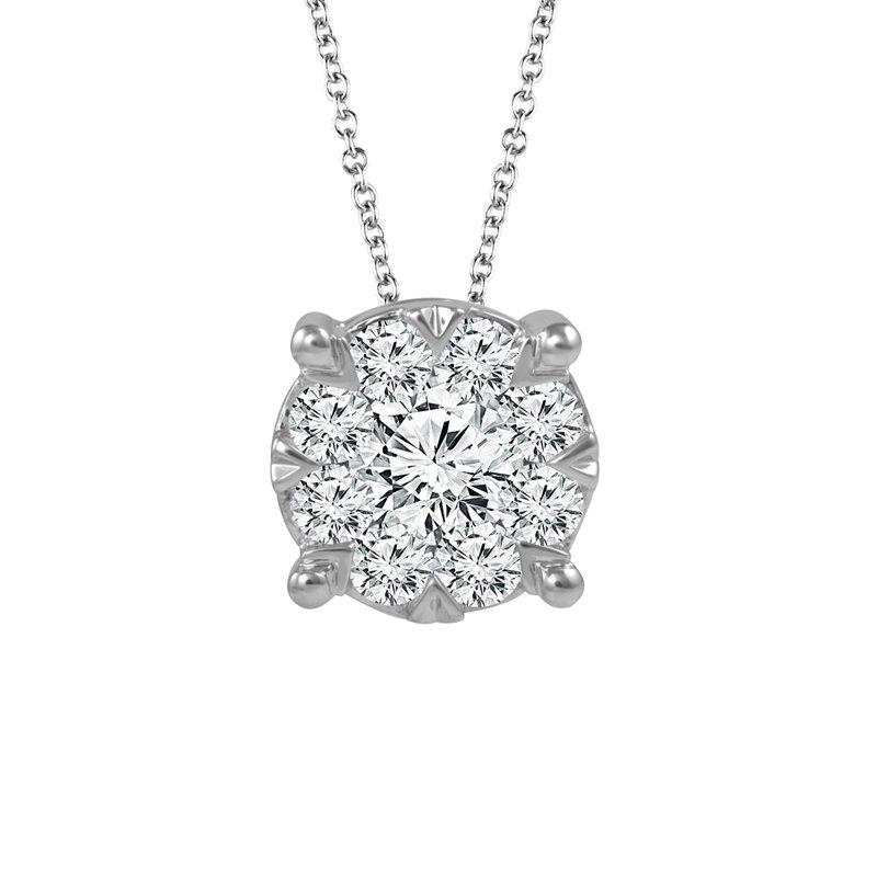 Greenberg's 14k white gold 1/2ctw diamond pendant