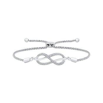 sterling silver diamond infinity bracelet