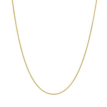 14k yellow gold 20 inch. woven wheat chain