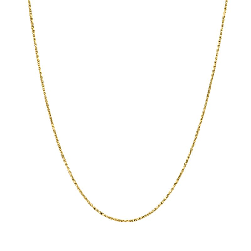 Greenberg's 14k yellow gold 20 inch. woven wheat chain