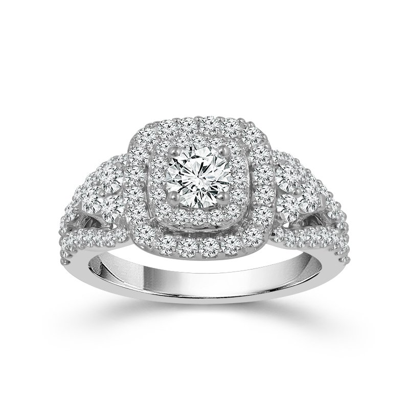 Greenberg's 14k white gold round brilliant engagement ring