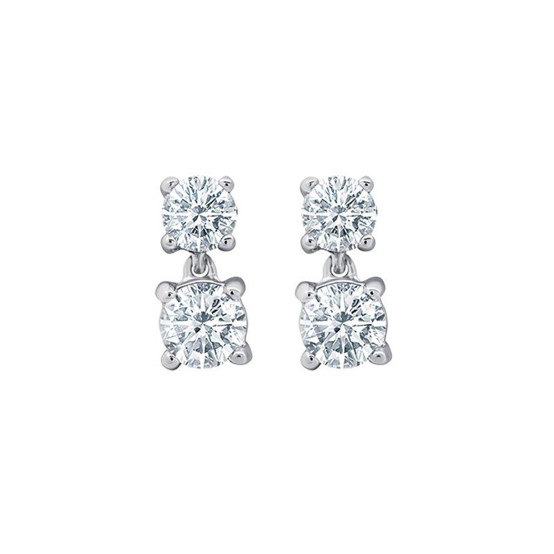 Greenberg's 14k white gold stud diamond earrings