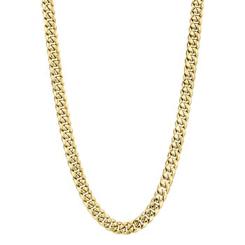 10k yellow gold 30 inch. miami cubin link men's chain
