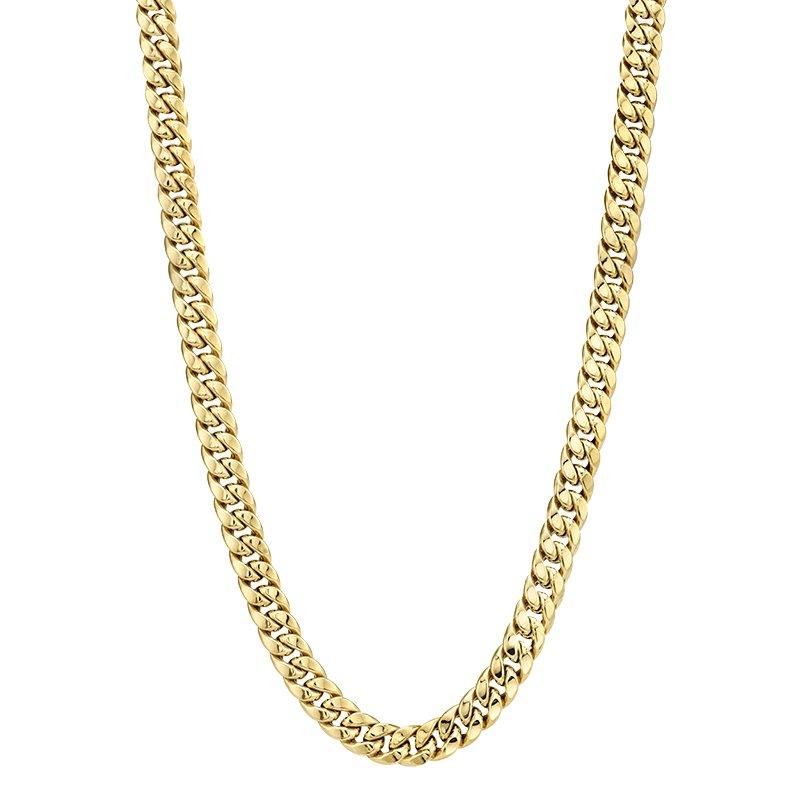 Greenberg's 10k yellow gold 30 inch. miami cubin link men's chain