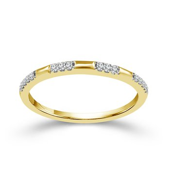 10k yellow gold .07ctw diamond stackable band