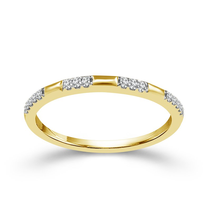 Greenberg's 10k yellow gold .07ctw diamond stackable band
