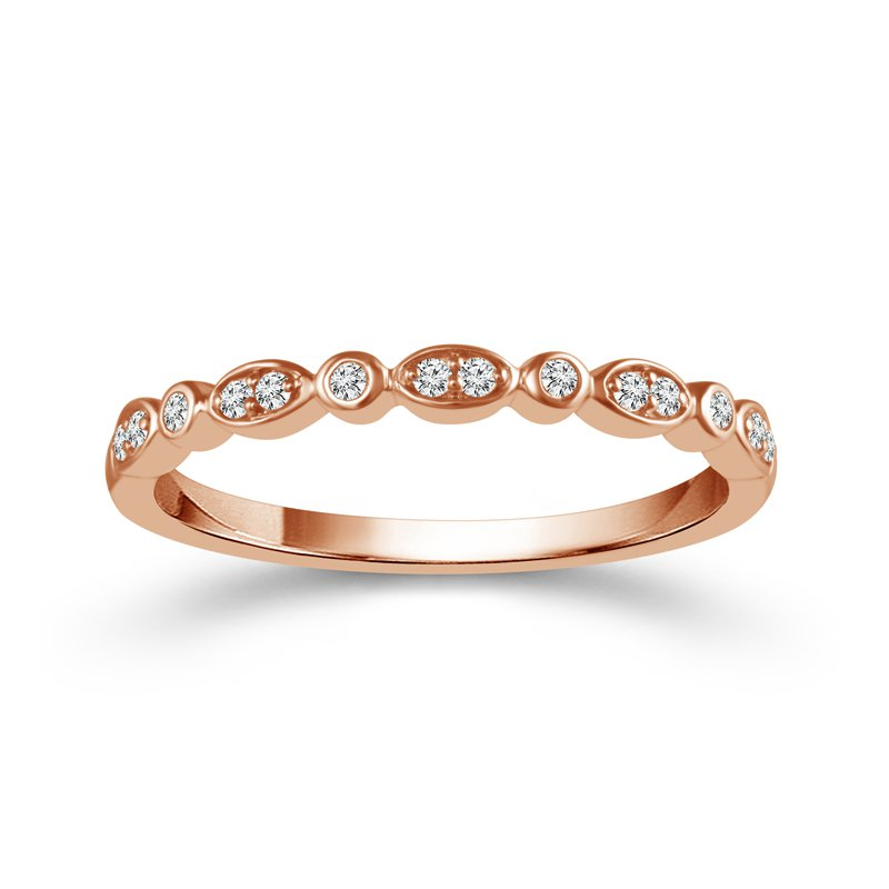 10k rose gold diamond wedding band
