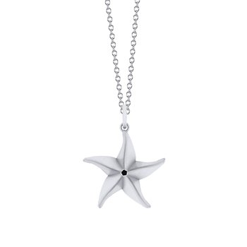 Sterling Silver Starfish Origami Pendant