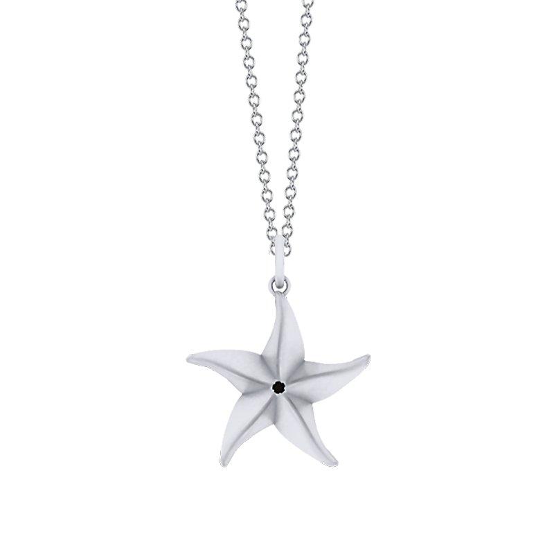 Greenberg's Sterling Silver Starfish Origami Pendant