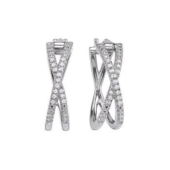 sterling silver 1/10ctw diamond earrings