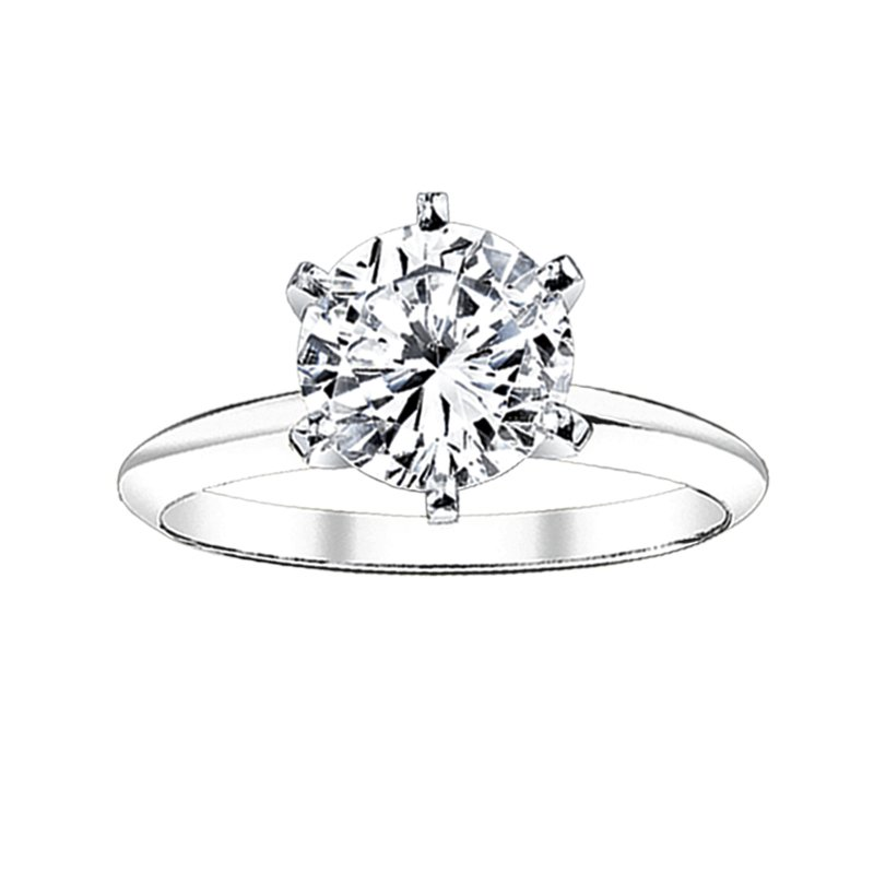 Greenberg's Solitaire Collection  1/4 ct round solitaire engagement ring