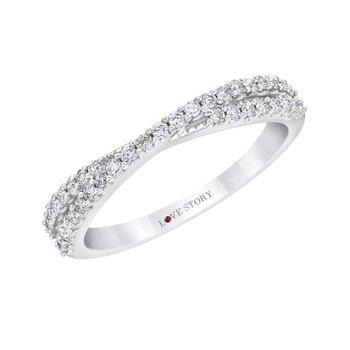 14k white gold 1/3ctw anniversary ring