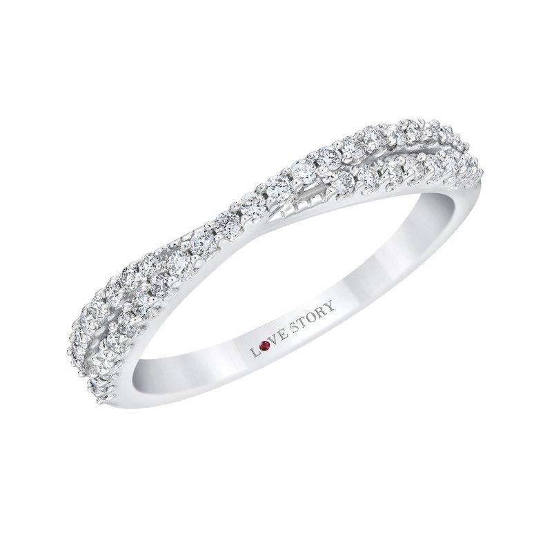 Love Story 14k white gold 1/3ctw anniversary ring