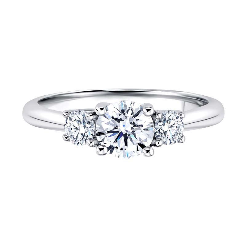 Greenberg's 14k white gold 1ctw three-stone diamond ring
