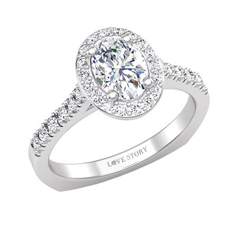 14k white gold 1/4ctw semi-mount diamond engagement ring