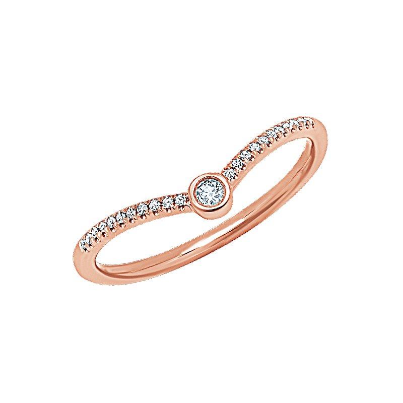Shy Creation 0.09CT 14K R/G Diamond Lady's Ring