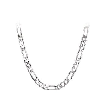 sterling silver 20-inch figaro chain necklace