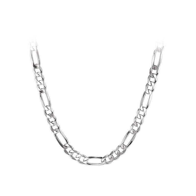 Greenberg's sterling silver 20-inch figaro chain necklace