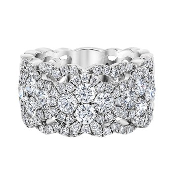 14k white gold lace 1-1/2ctw glamour band