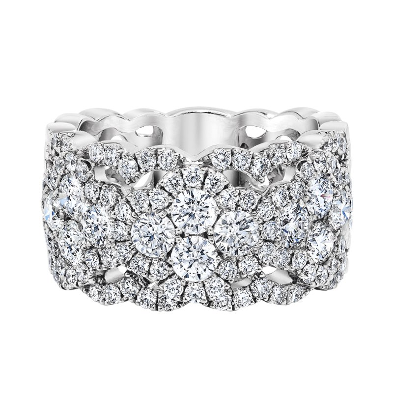 Love Story 14k white gold lace 1-1/2ctw glamour band