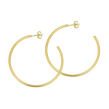 14k yellow gold 3/4 open hoop earrings