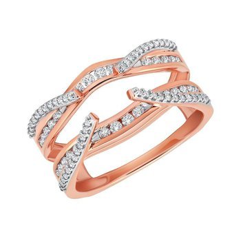 14k pink gold 1/2ctw ring enhancer