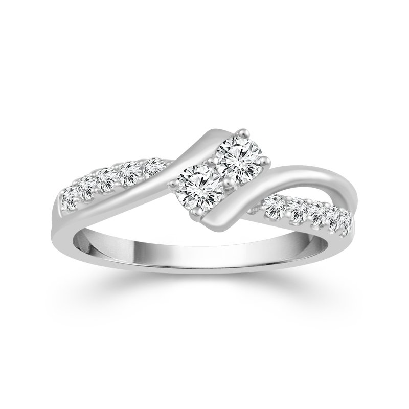 Greenberg's 14k white gold 1-1/2ctw twogether ring