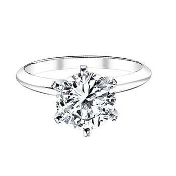 1ct round solitaire engagement ring