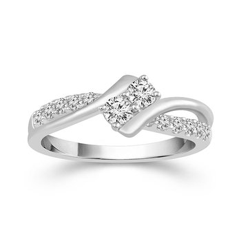 14k white gold 1/2ctw twogether ring