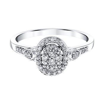 10K WG 1/4ctw Promise Ring