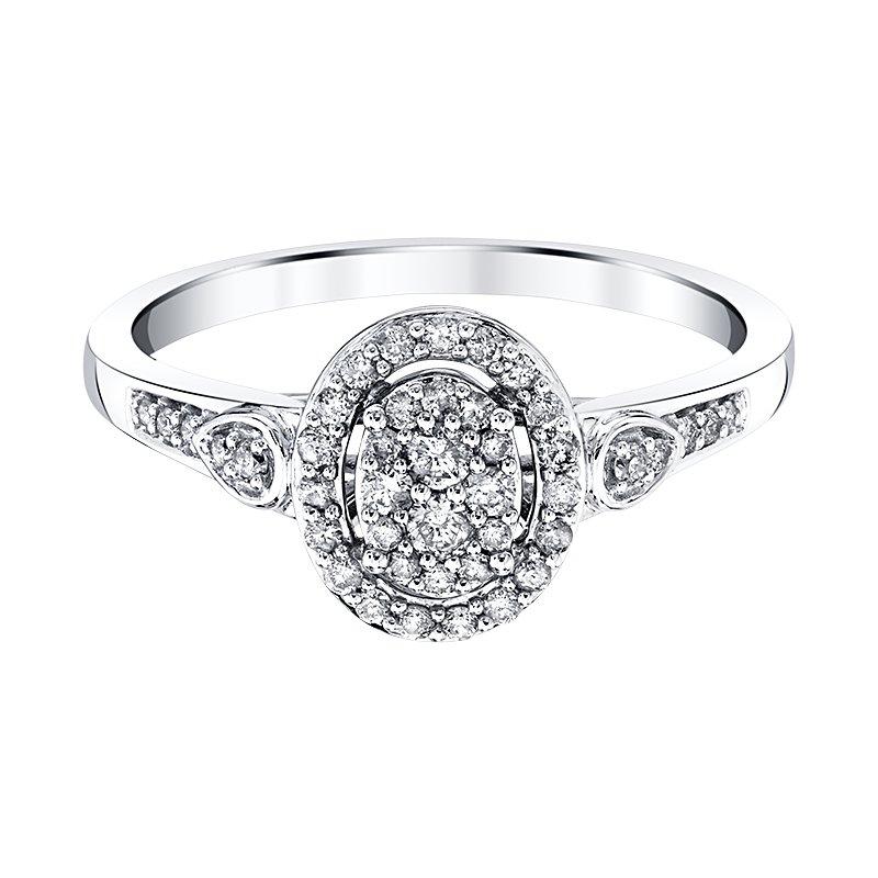 Greenberg's 10k white gold 1/4ctw promise ring