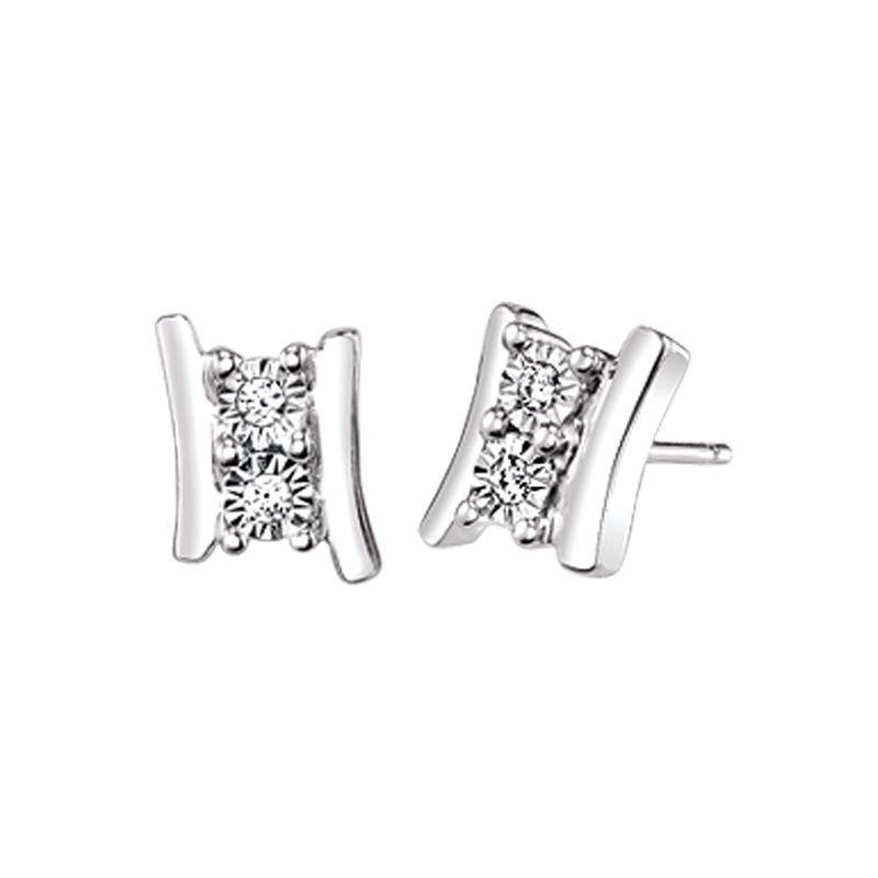 Greenberg's sterling silver two-stone earrings