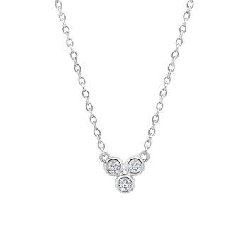 10k white gold .09ctw three-round diamond fashion pendant