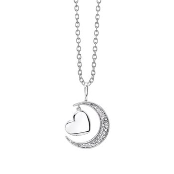 """sterling silver """"I love you to the moon and back"""" pendant"""