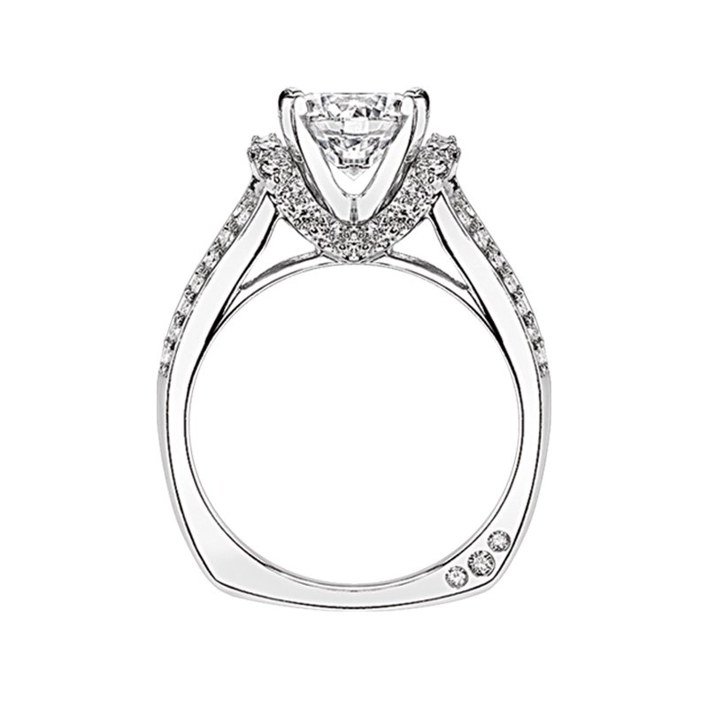 Amy Greenberg Collection 18k white gold 2/3ctw semi mount diamond engagement ring