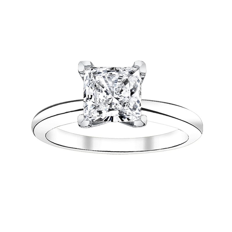 Greenberg's Solitaire Collection  1/2 ct princess cut solitaire engagement ring