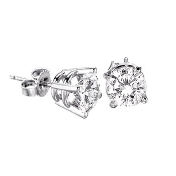 .12ct round stud diamond earrings