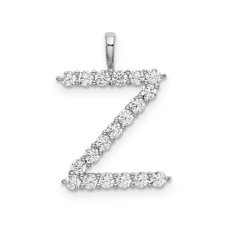 "Greenberg's 14k white gold initial ""Z"" pendant"