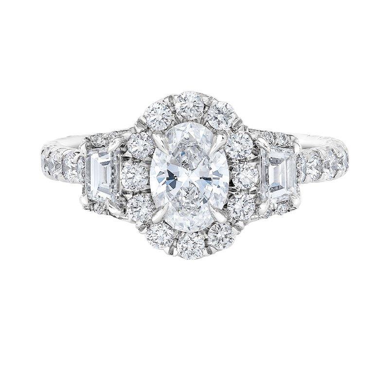 Love Story 14k white gold 2ctw 3/4 oval diamond engagement ring