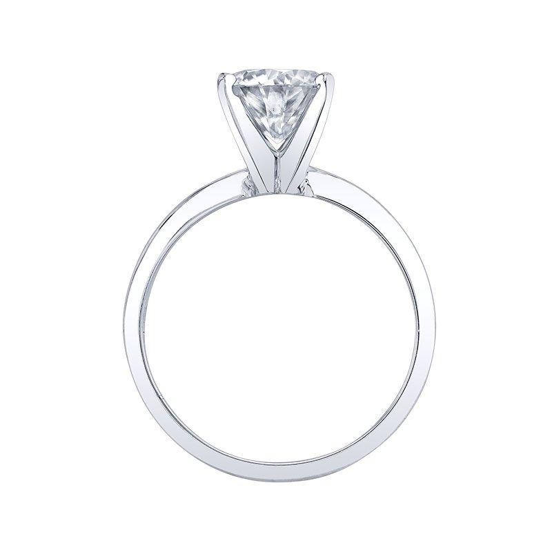 Enduring Light 14K WG 8MM Moissanite Solitaire Diamond Ring