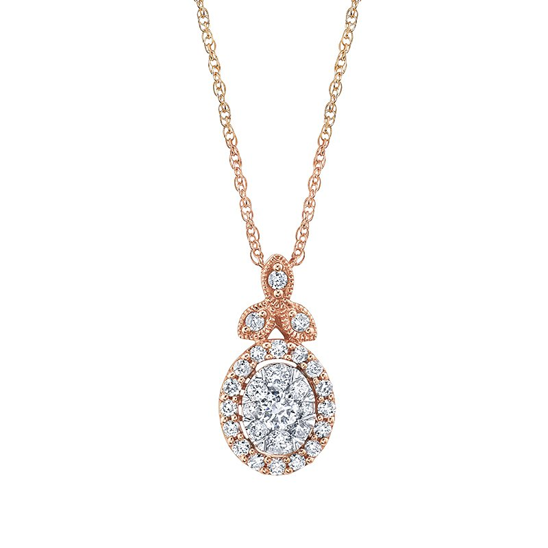 Greenberg's 14k white and rose gold pendant