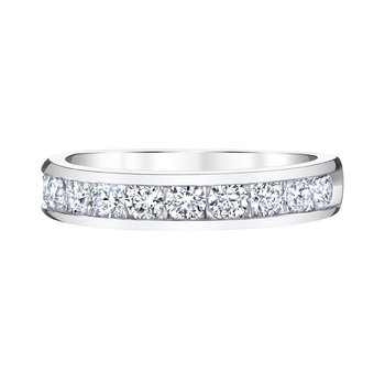14k white gold 1/4ctw anniversary band