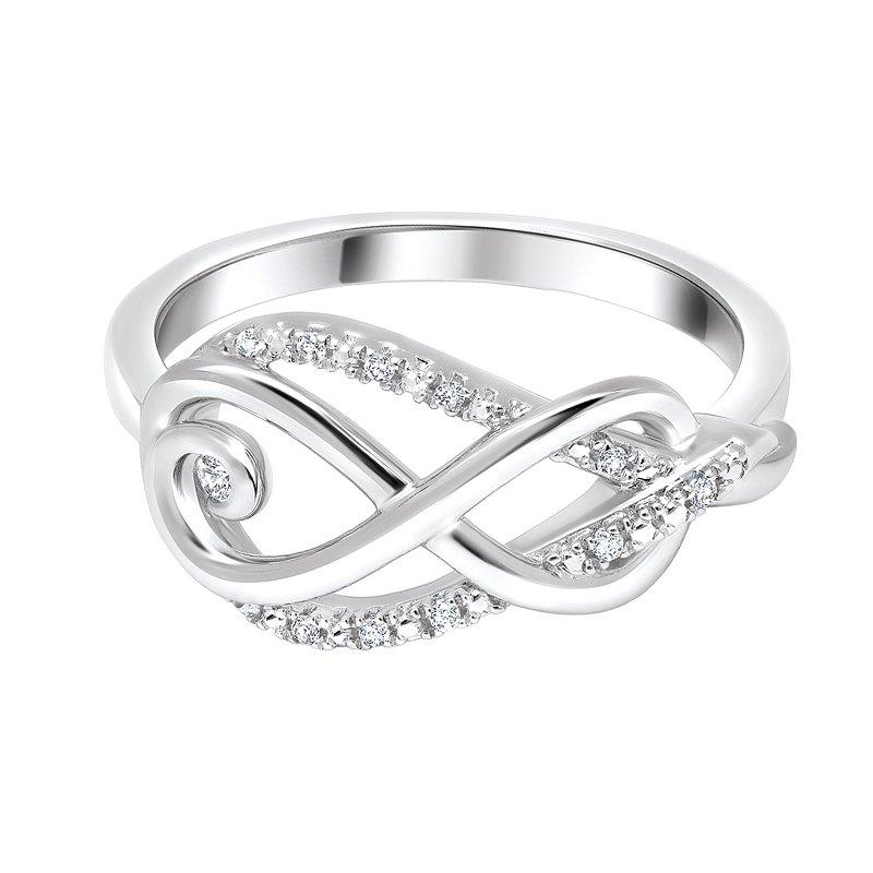 Greenberg's sterling silver diamond infinity ring