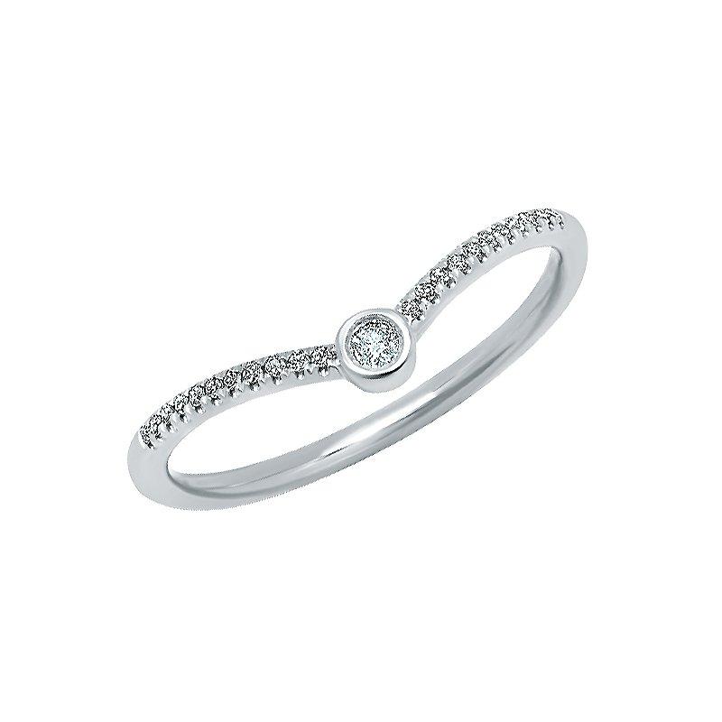 Shy Creation 0.09CT 14K W/G Diamond Lady's Ring