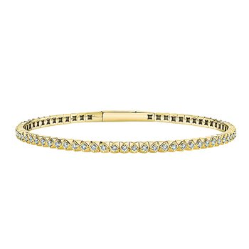 14k yellow gold 7/8ctw diamond bracelet