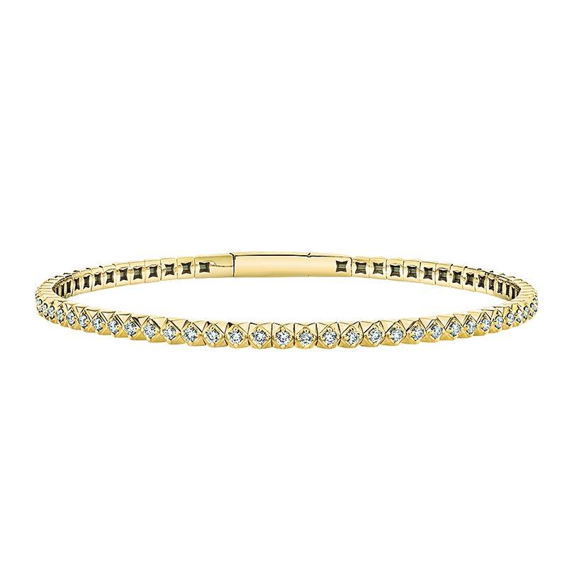 Greenberg's 14k yellow gold 7/8ctw diamond bracelet