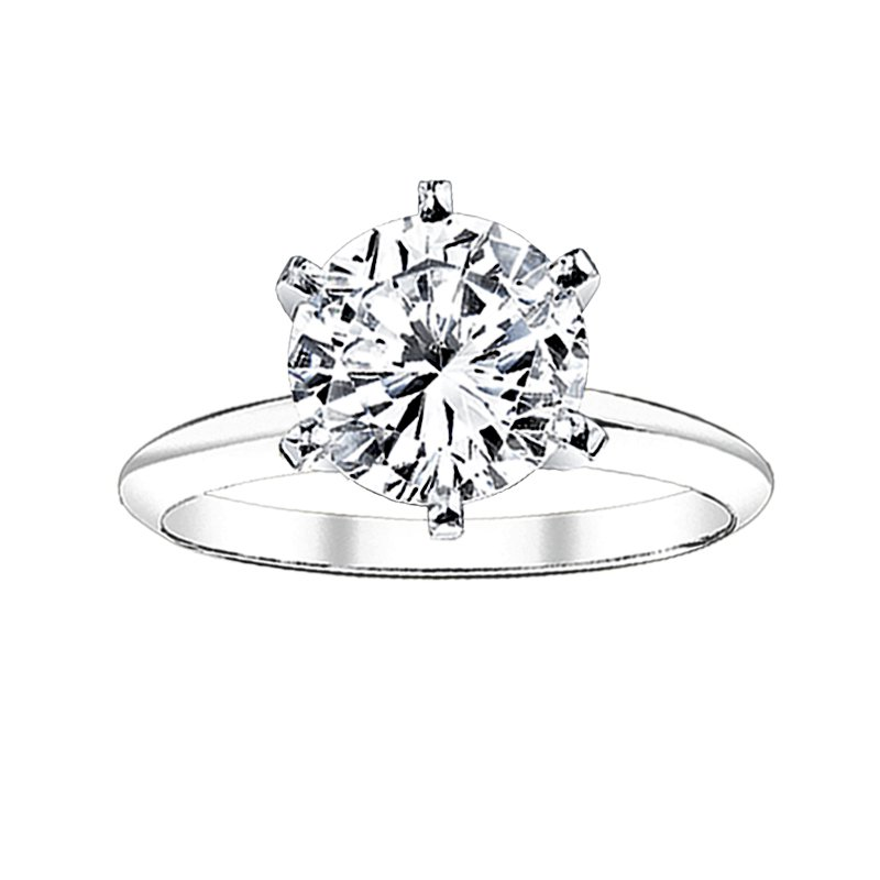Greenberg's Solitaire Collection  1/2 ct round solitaire engagement ring